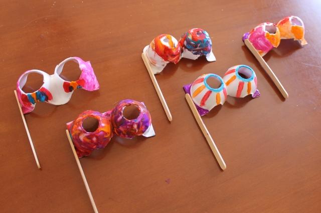 Bril knutselen met lege eierdoos Egg tray craft ideas
