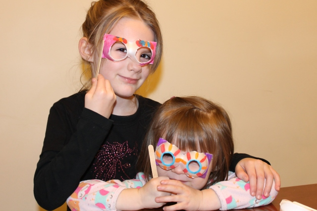 egg carton masks or glasses