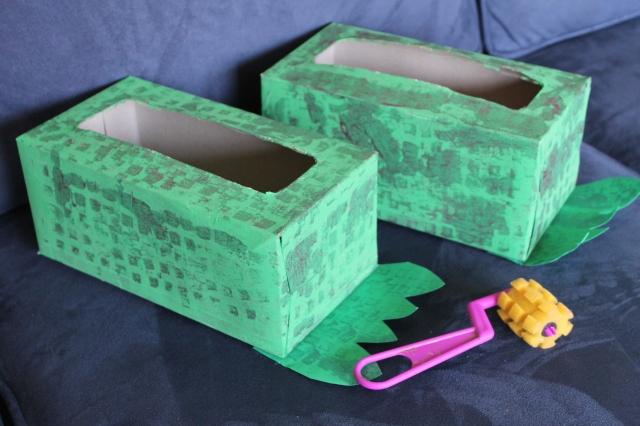 Kleenex box monster feet