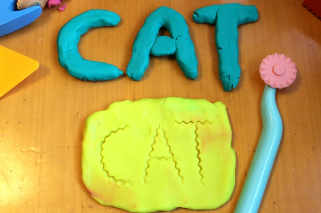 playdough letters
