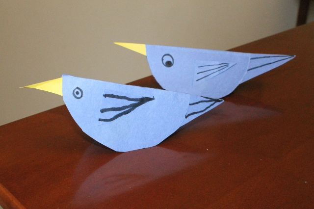 symmetry shape bird craft