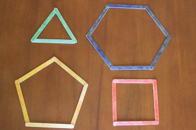 popsicle stick shapes