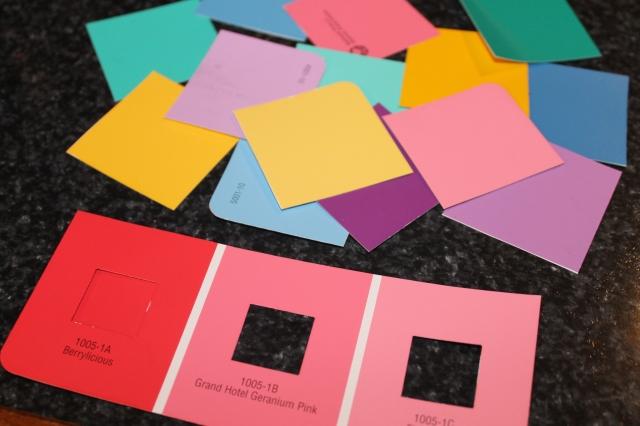 paint chip preschool game