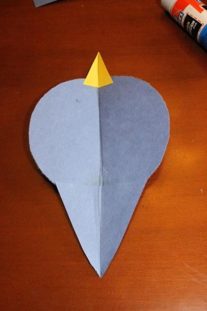 how to make paper shape bird