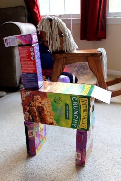 cardboard box horse