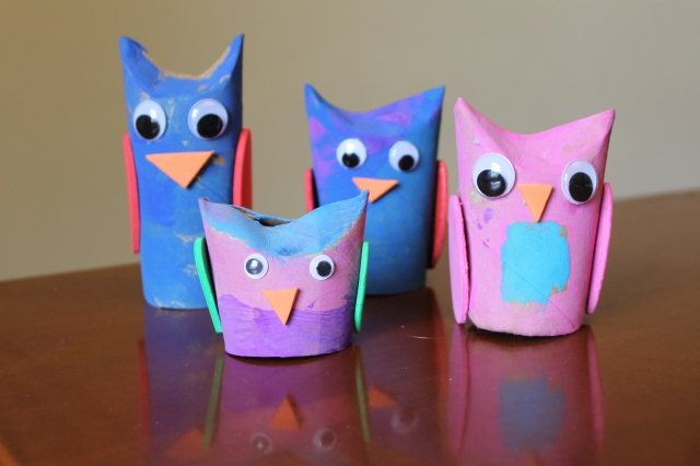 toilet paper tube owls